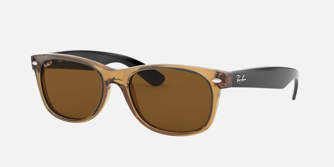 Ray-Ban RB2132 55 Brown & Tan Polarised Sunglasses | Sunglass Hut ...