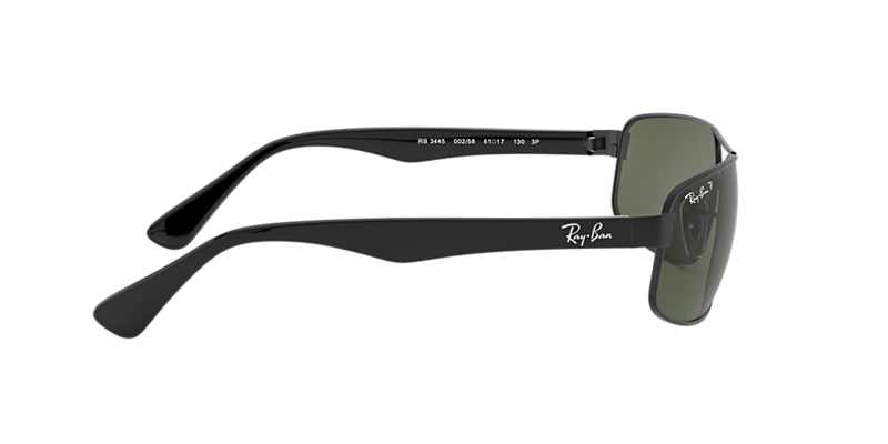 de57a44030e Ray-Ban RB3445 61 Polarized Green Classic G-15   Black Polarized ...
