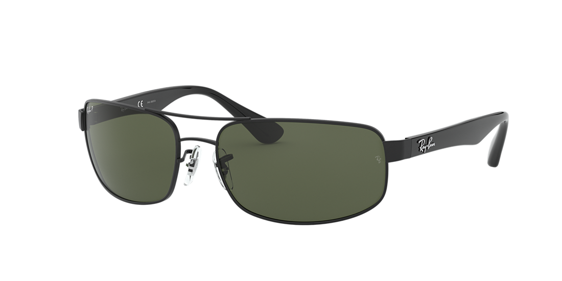 5b5c4d8b90 Ray-Ban RB3445 61 Polarized Green Classic G-15   Black Polarised ...