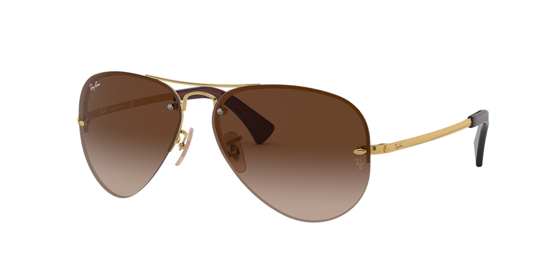 a567cede4c Ray-Ban RB3449 59 Brown Gradient   Gold Sunglasses