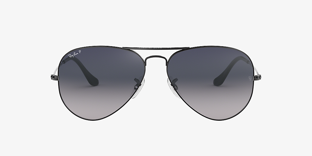 ray ban aviator blue gradient grey polarized