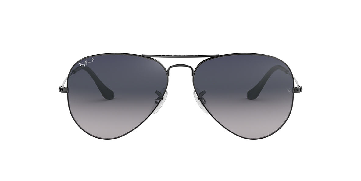 Gunmetal RB3025 AVIATOR GRADIENT Blue Gradient  55
