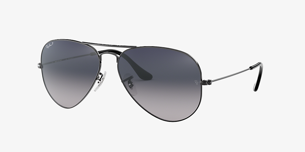 ray ban aviator 55mm black polarized