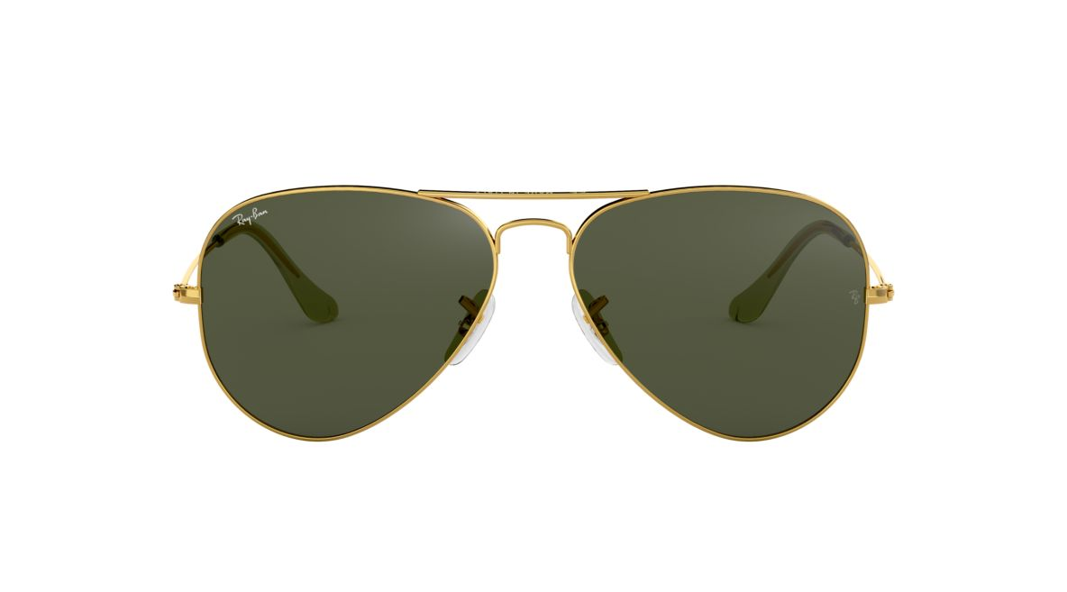 14eee3226f6 Ray-Ban RB3025 58 Green Classic G-15   Gold Sunglasses