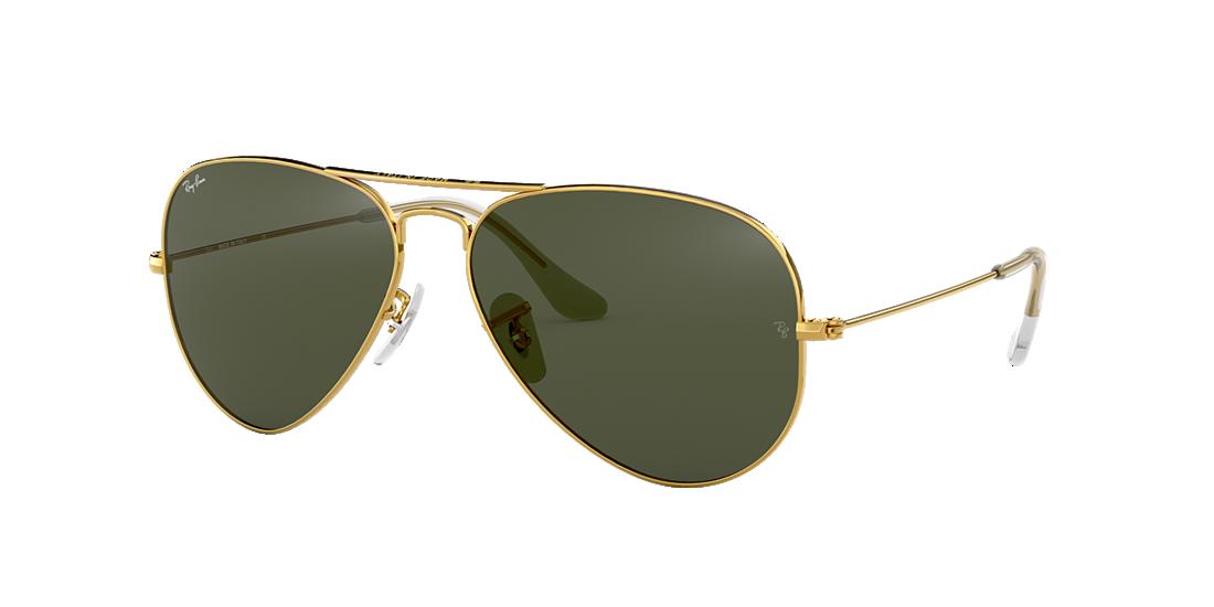 657ed24396c6 Frame  gold. Lenses  green classic g-15. PDP Product Image