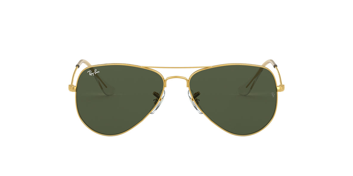 Gold RB3025 AVIATOR CLASSIC Green  52