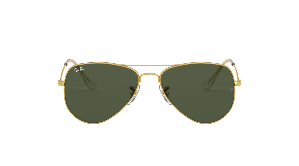 37aebd9615c4a6 Ray-Ban RB3025 AVIATOR CLASSIC 52 Green   Gold Sunglasses
