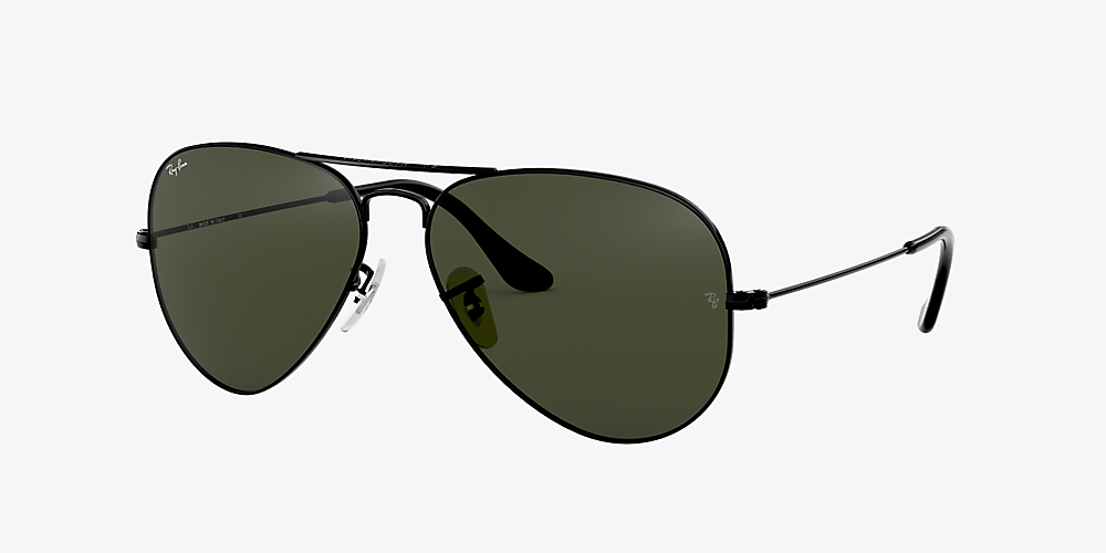 e008fa6bd2 Ray-Ban RB3025 AVIATOR CLASSIC 58 Green & Black Sunglasses ...