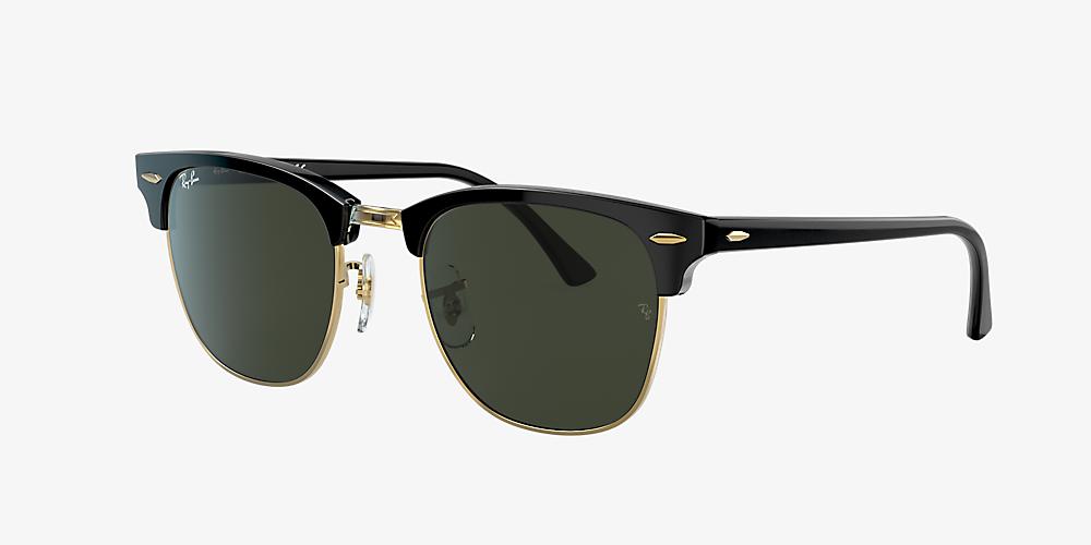 2e65c0644f70 Ray-Ban RB3016 CLUBMASTER CLASSIC 49 Green & Black Sunglasses ...