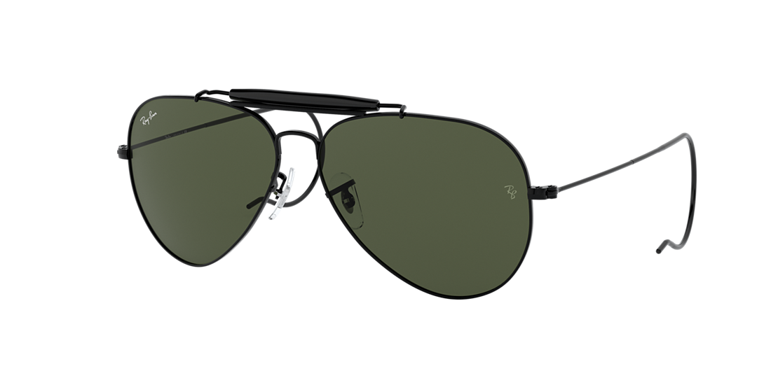 59726879ba Ray-Ban RB3030 OUTDOORSMAN 58 Green Classic G-15   Black Sunglasses ...