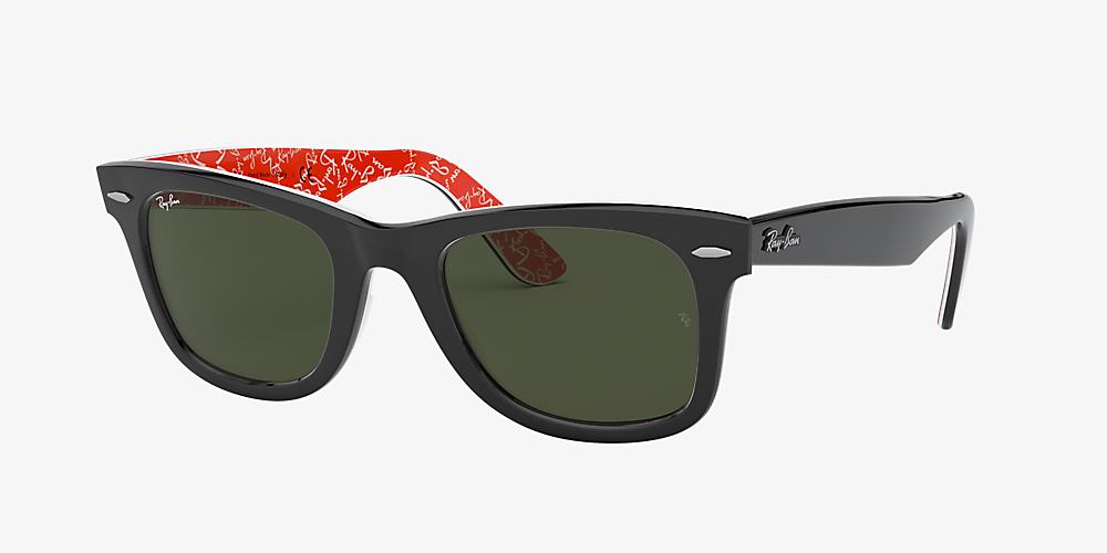40e94ab7af6f Ray-Ban RB2140F 54 Green Classic G-15 & Black Sunglasses | Sunglass ...