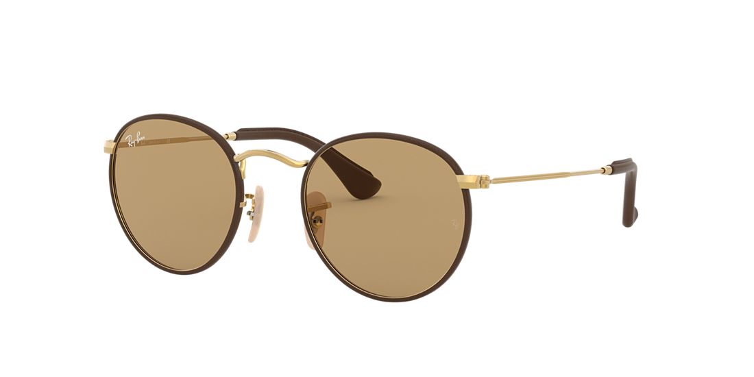 35cecdfcdd8 Ray-Ban RB3475Q ROUND CRAFT 50 Brown Classic   Brown Sunglasses ...