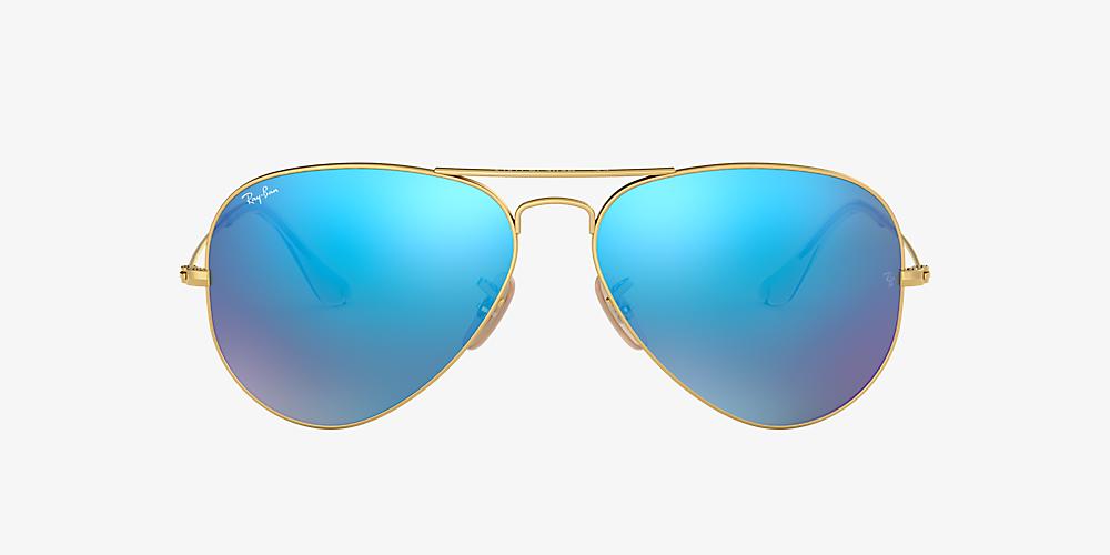 a1b690aaf Ray-Ban RB3025 AVIATOR FLASH LENSES 58 Blue Flash & Gold Sunglasses ...