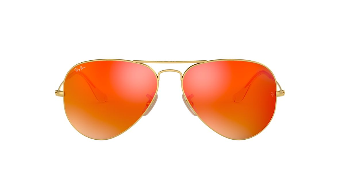 caada07aeb Ray-Ban RB3025 58 Orange Flash   Gold Sunglasses