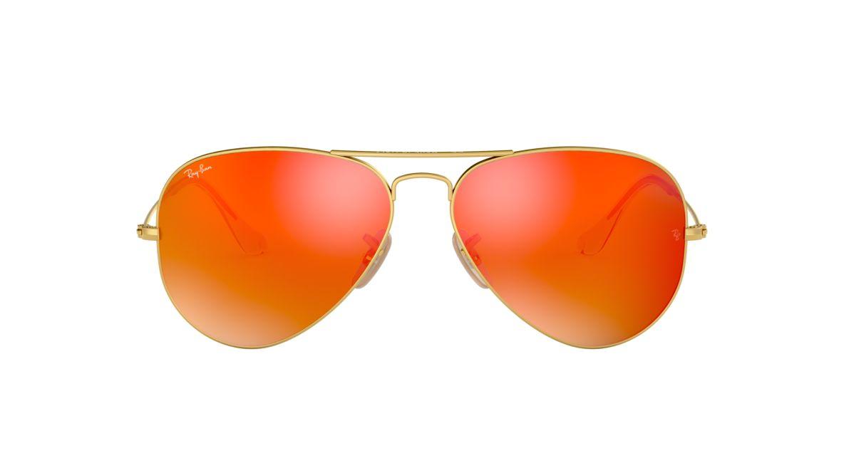 c562efaa01de6 ... shopping ray ban rb3025 55 orange gold matte sunglasses sunglass hut  usa 195b7 777e2
