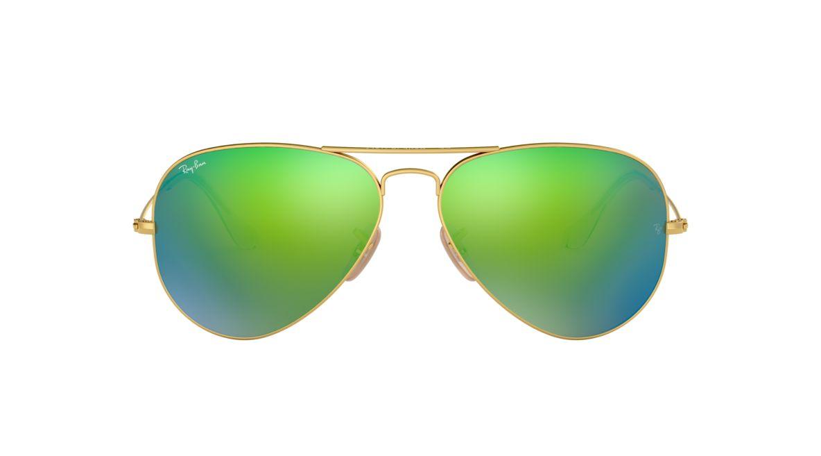 Ray-Ban RB3025 58 ORIGINAL AVI 58 Green & Yellow Sunglasses ...