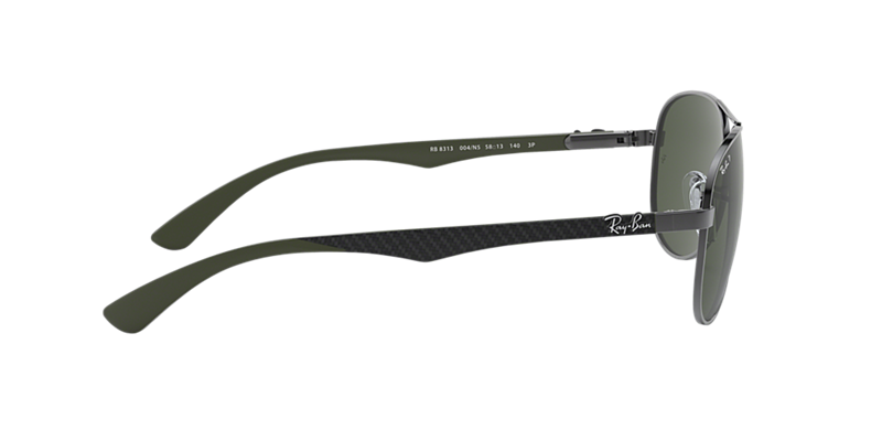 3ac94bc6fc223 Ray-Ban RB8313 61 Polarized Green Classic G-15   Gunmetal Polarized ...