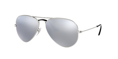 9501f5ebb Ray-Ban RB3025 AVIATOR MIRROR 58 Grey-Black & Silver Polarized ...