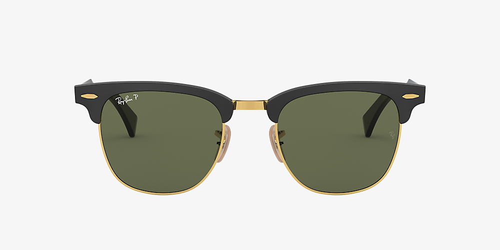 be002270b1 ... Ray-Ban RB3507 CLUBMASTER ALUMINUM Black/Green /Polarized image ...