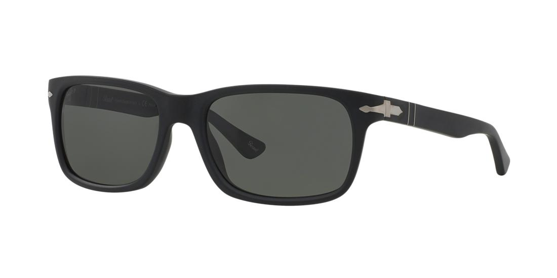 Persol Man  PO3048S -  Frame color: Black, Lens color: Grey-Black, Size 58-19/145