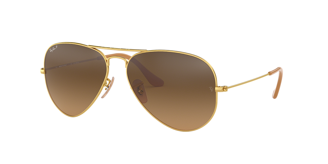 9d295f799e Ray-Ban RB3025 58 Polarized Brown Gradient   Gold Polarized ...