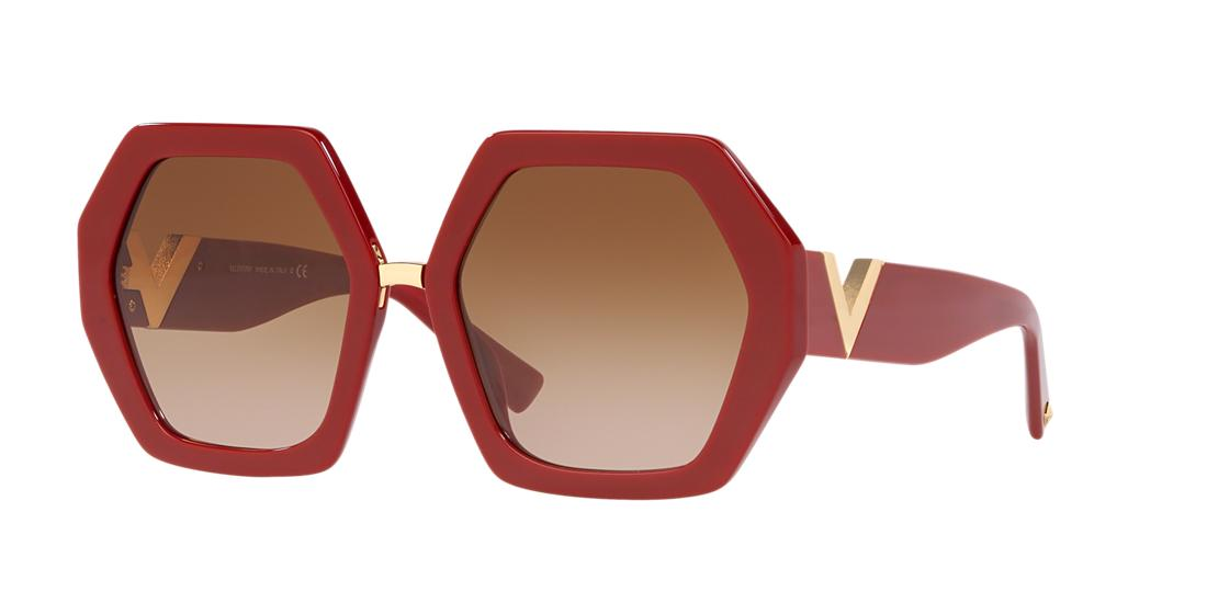 Valentino Woman  VA4053 -  Frame color: Red, Lens color: Brown, Size 57-20/140