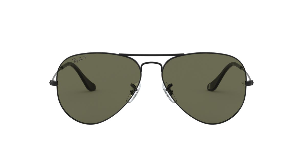 Ray-Ban RB3025 58 Polarized Green Classic G-15   Black Polarized ... a13280f3ef2d