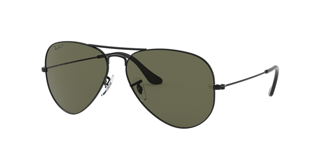 fd7bde86d8c Frame  black. Lenses  polarized green classic g-15. PDP Product Image