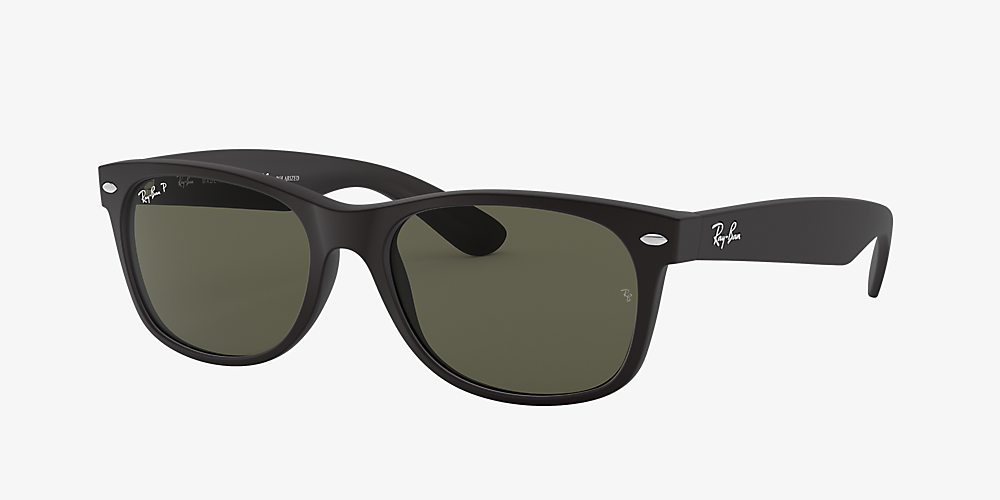 83a5db100 Ray-Ban RB2132 NEW WAYFARER CLASSIC Black/Green /Polarised image ...
