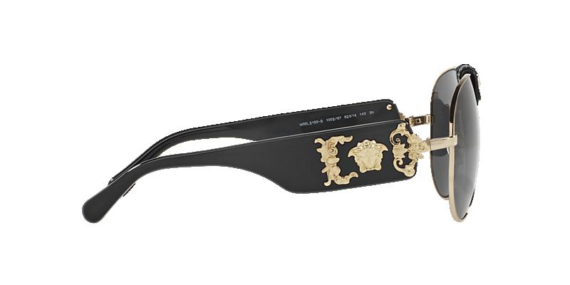 cb348b0a973a Versace VE2150Q 62 Grey-Black   Gold Sunglasses