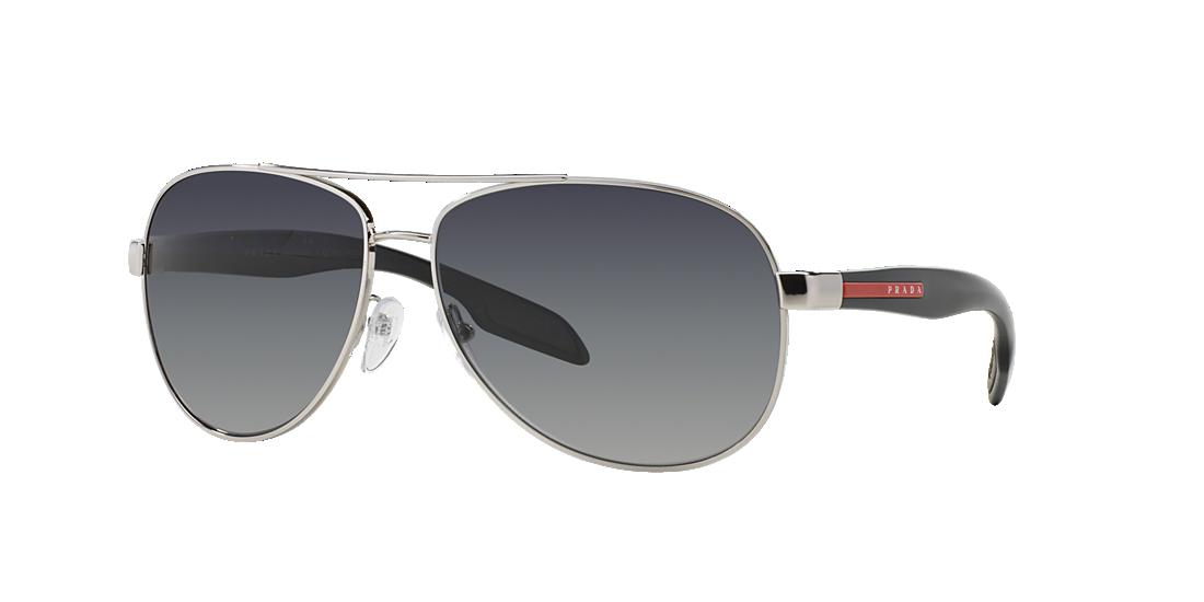 a30a4cb87f104 Prada Linea Rossa PS53PS 62 Grey-Black   Silver Polarised Sunglasses ...