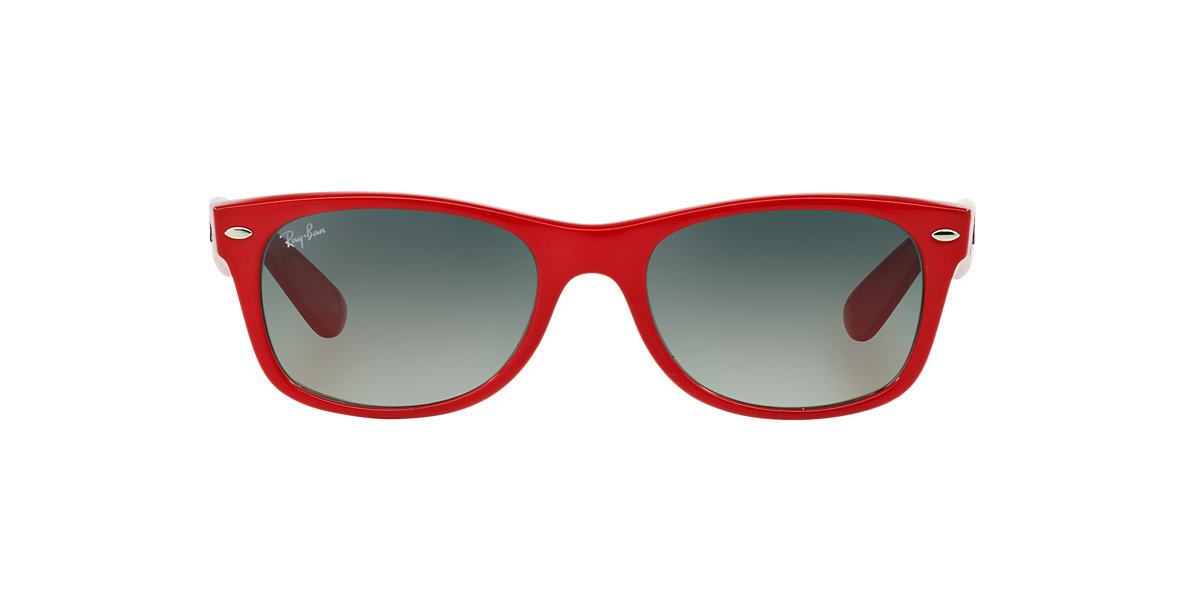 Red RB2132 NEW WAYFARER COLOR SPLASH Grey-Black  52