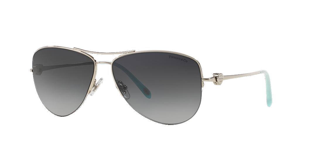 ae64a0b6a17 Tiffany TF3021 60 Grey-Black   Silver Polarized Sunglasses ...