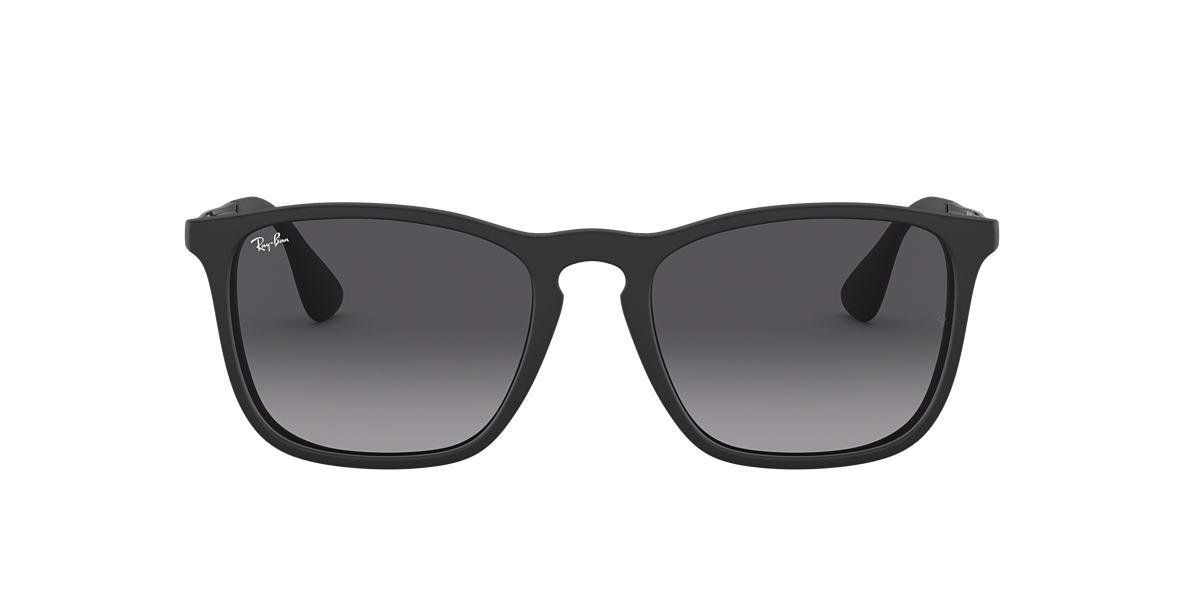 c2e42e4bde9f5 Ray-Ban RB4187F 54 Grey Gradient   Black Sunglasses