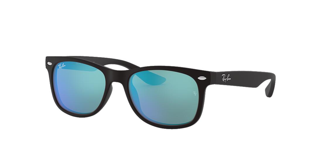 ac1fa50b552b0 Ray-Ban RJ9052S NEW WAYFARER KIDS 47 Blue Mirror   Black Sunglasses ...