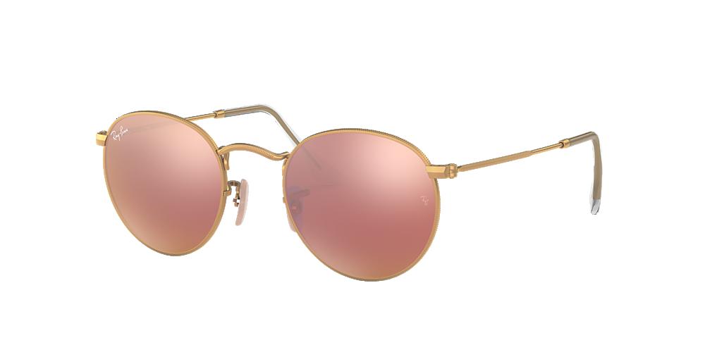 Óculos de Sol Ray-Ban RB3447 Round Metal Lentes Espelhadas ... b4c8a4bf417e1