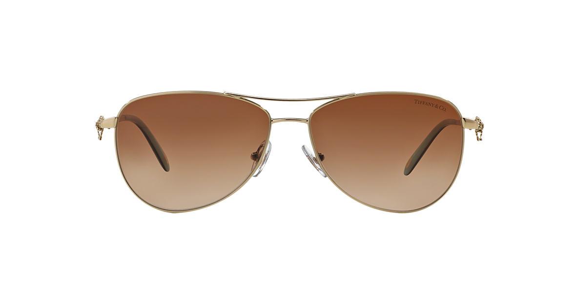 e926d80487d27 Tiffany TF3044 Tiffany Twist 58 Brown   Gold Sunglasses