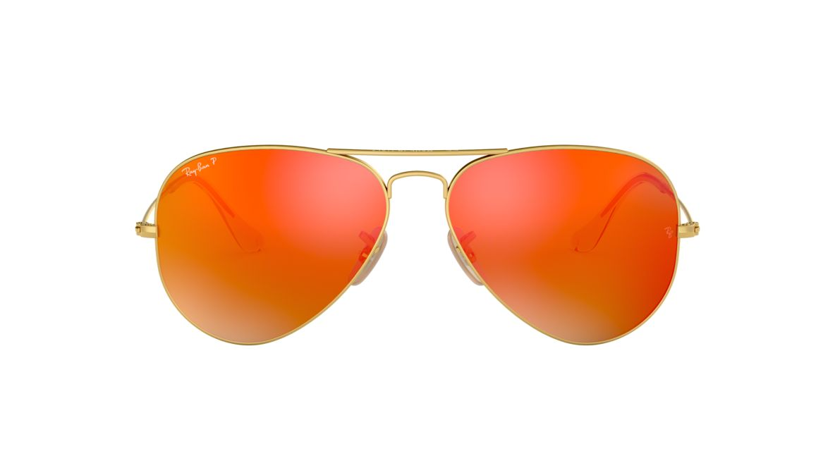 8c05ed66c15 Ray-Ban RB3025 58 Polarized Orange Flash   Gold Polarised Sunglasses ...