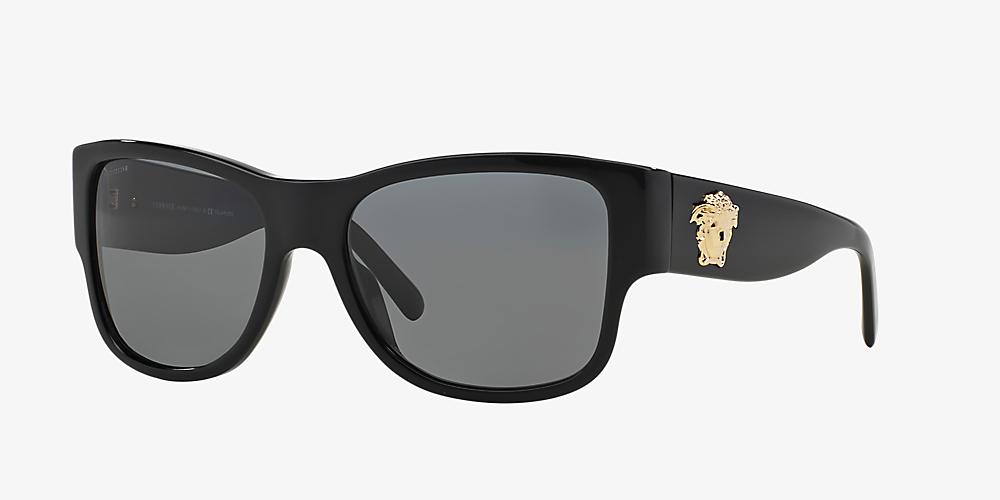 748759531157 Versace VE4275 58 Grey-Black & Black Polarized Sunglasses | Sunglass ...