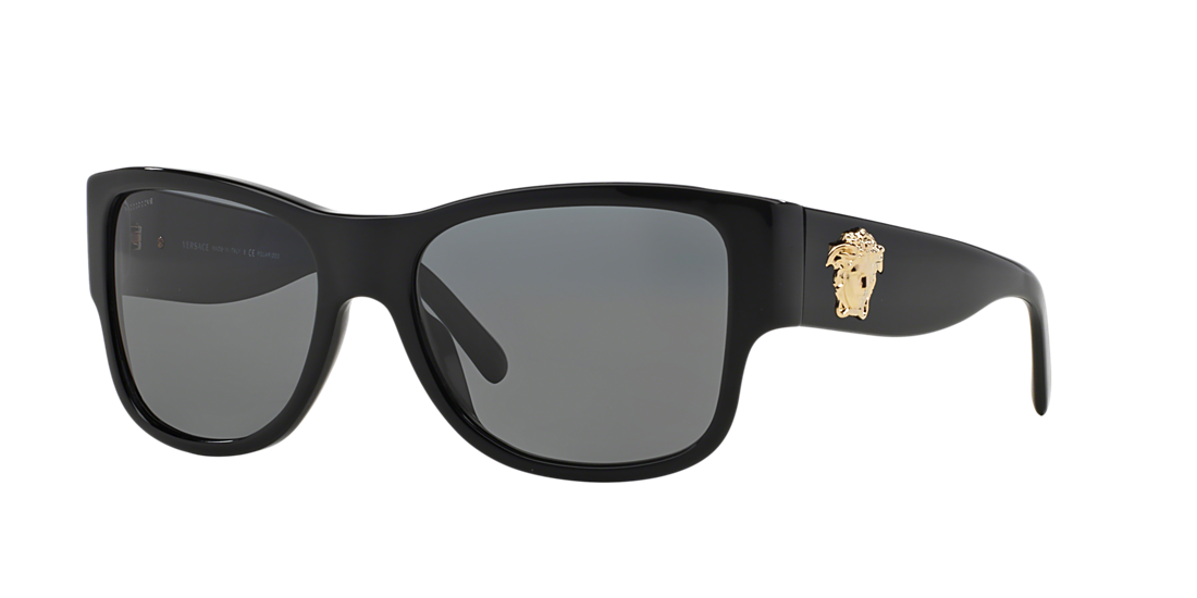 5e8894c4615 Versace VE4275 58 Grey-Black   Black Polarized Sunglasses