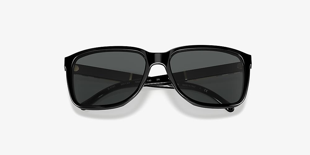 93d989c3a89f Burberry BE4181 58 Grey-Black & Black Sunglasses   Sunglass Hut USA