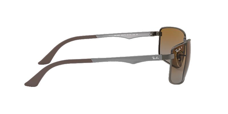 ace4246057 Ray-Ban RB3498 61 Polarized Brown Gradient   Gunmetal Polarized ...