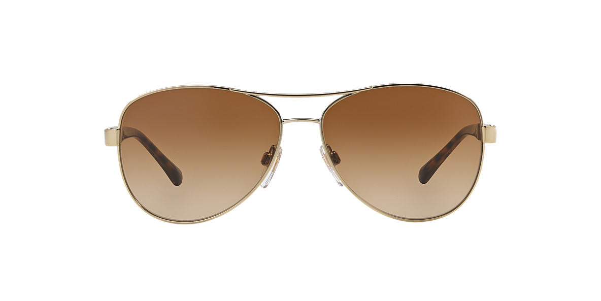 69e7cd0c383 Burberry BE3080 59 Brown   Gold Sunglasses