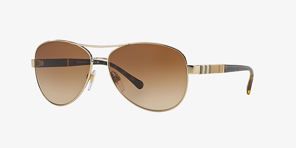 893ea1753e25 Burberry BE3080 59 Brown & Gold Sunglasses | Sunglass Hut United Kingdom