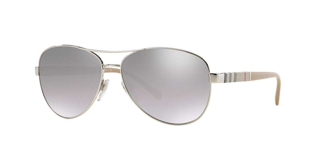 c8e5e22c69a Burberry BE3080 59 Silver   Silver Sunglasses