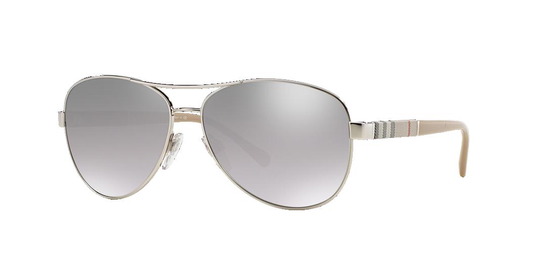 1b06b9e632 Burberry BE3080 59 Silver   Silver Sunglasses