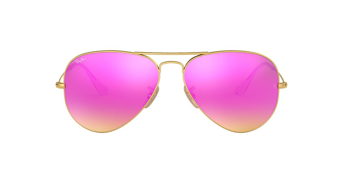 Ray Ban Rb3025 58 Cyclamen Flash Gold Sunglasses Sunglass Hut Usa