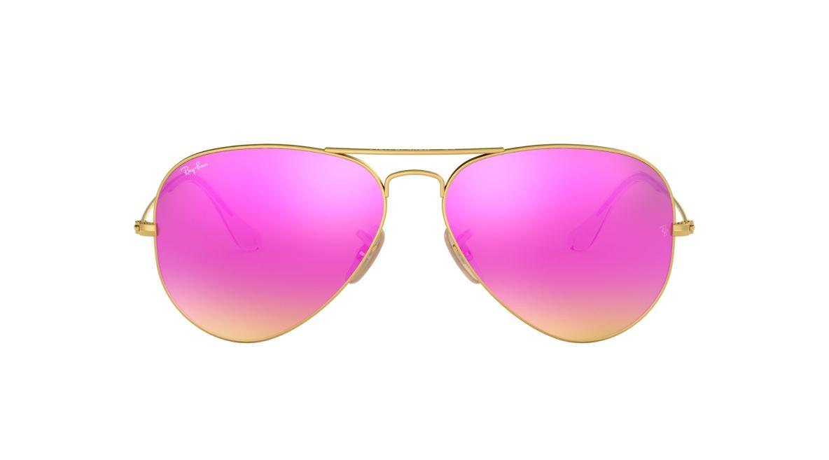 34993b950f6c Ray-Ban RB3025 58 Cyclamen Flash   Gold Sunglasses