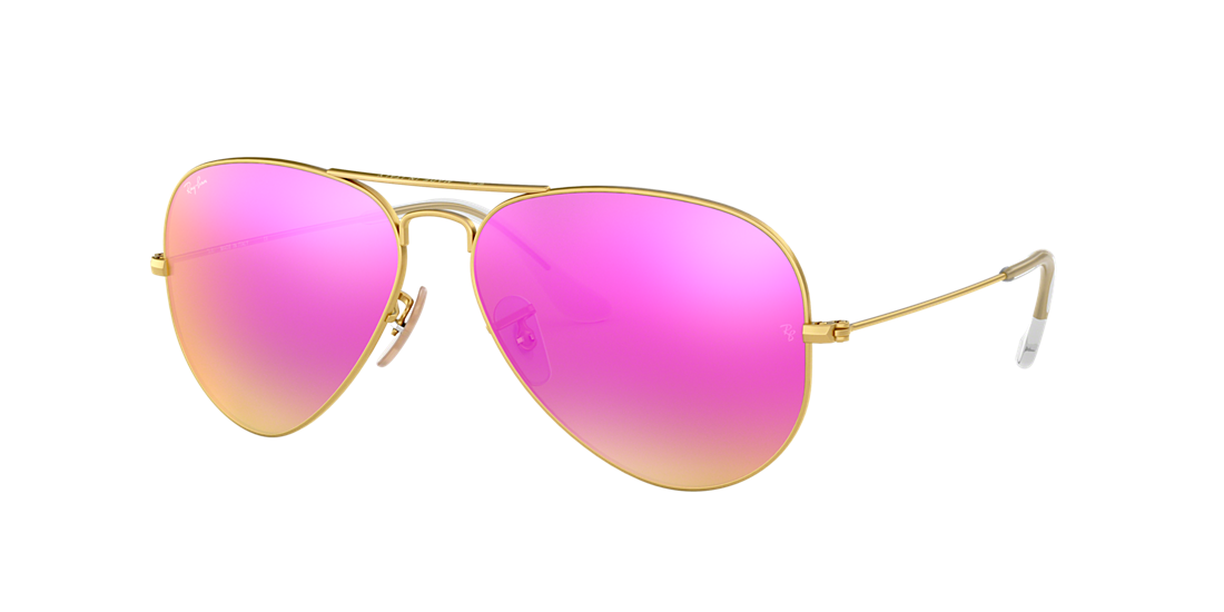 c165f67bb01 Ray-Ban RB3025 58 Cyclamen Flash   Gold Sunglasses