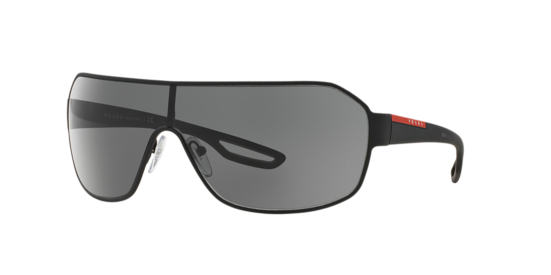 79b263b4a62 Prada Linea Rossa PS52QS 01 Grey-Black   Black Sunglasses
